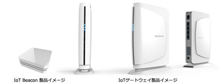 IoT Beacon製品、IoTゲートウェイ製品イメージ